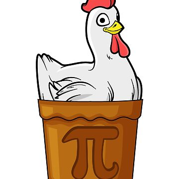 Chicken Pot Pie Math Funny Pun Pi Gift by BlueBerry-Pengu