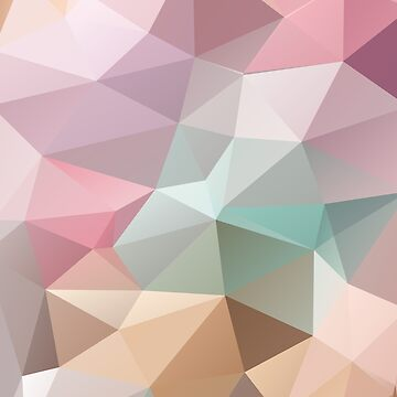 Abstract print geometrical pattern of triangles polygon. Fabric design in bright colors by fuzzyfox