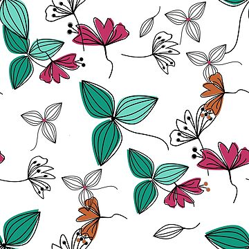 Seamless pattern flowers. by fuzzyfox