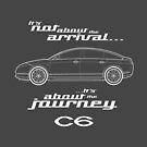 """Citroen C6 Graphic Art. """"It's not about the arrival, it's about the journey"""" by RJWautographics"""