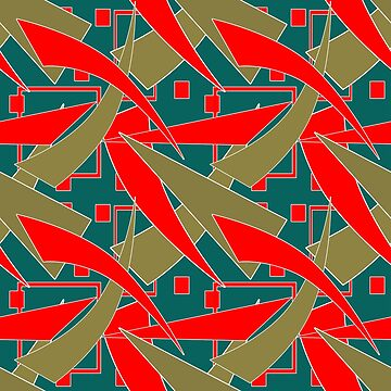 Geometric patterns, red, green, texture, background,figure, geometric pattern by fuzzyfox
