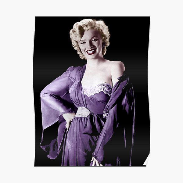CELEBRITY POSTER Marilyn Monroe Purple
