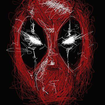 Dark SuperHero Line Art by GarnetLeslie