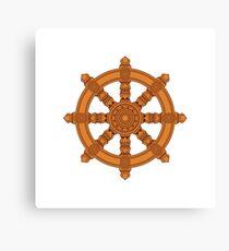 The Dharma Wheel Canvas Print