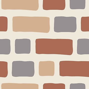 Rustic Bricks Pattern-2-Cream Coloured Background by broadmeadow