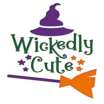 Wickedly Cute Shirt Funny Wicked and Cute Halloween Design Witch Tee by MrTStyle