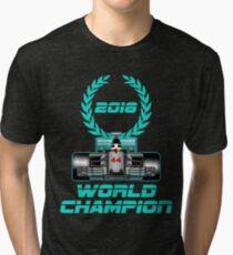 Lewis Hamilton F1 2018 World Champion Tri-blend T-Shirt