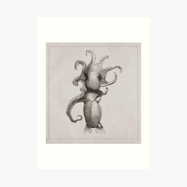 Retro Alien: Aygaan Art Print