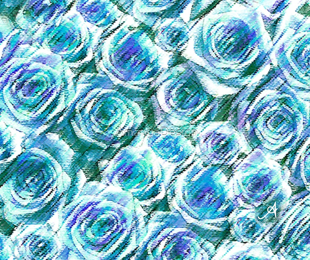 « Roses Bleus Amanya Design » par AmanyaDesign