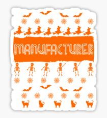 Cool Manufacturer Ugly Halloween Gift Sticker