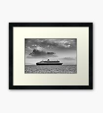 Queen Mary 2 mono Framed Print