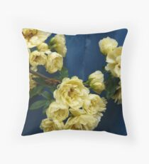 Yellow Banksia Rose Throw Pillow