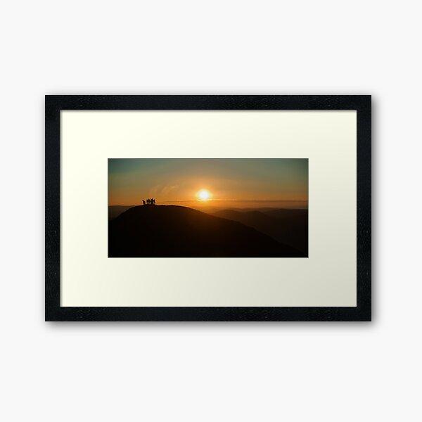 Sunrise on Feathertop Framed Art Print