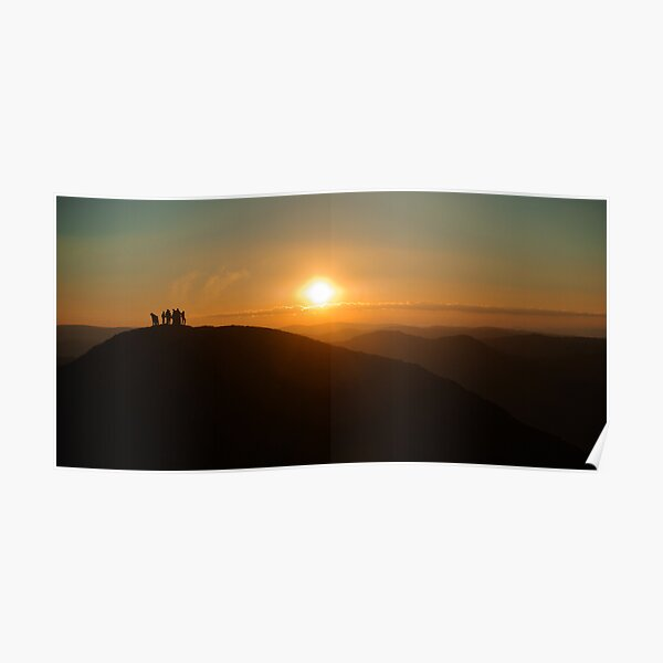Sunrise on Feathertop Poster