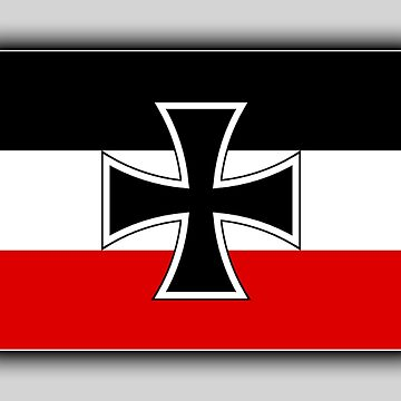 GERMANY, German, Flag of, North German, Confederation, 1867–1871, Marine Jack, Kriegsschiffgösch by TOMSREDBUBBLE