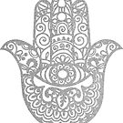 Silver Hamsa Hand of Fatima | Globetrotter by koovox