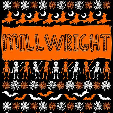 Cool Millwright Ugly Halloween Gift by BBPDesigns