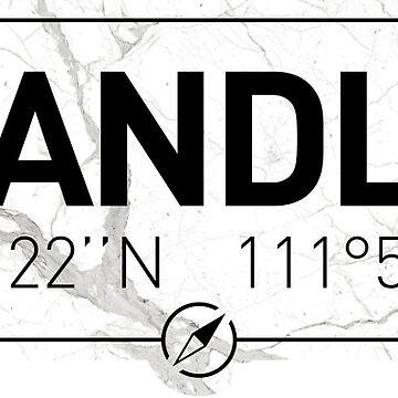 The longitude and latitude of Chandler by efomylod