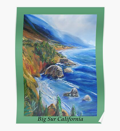 Big Sur At Fall Time Poster