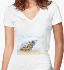 The Glass Shell Women's Fitted V-Neck T-Shirt