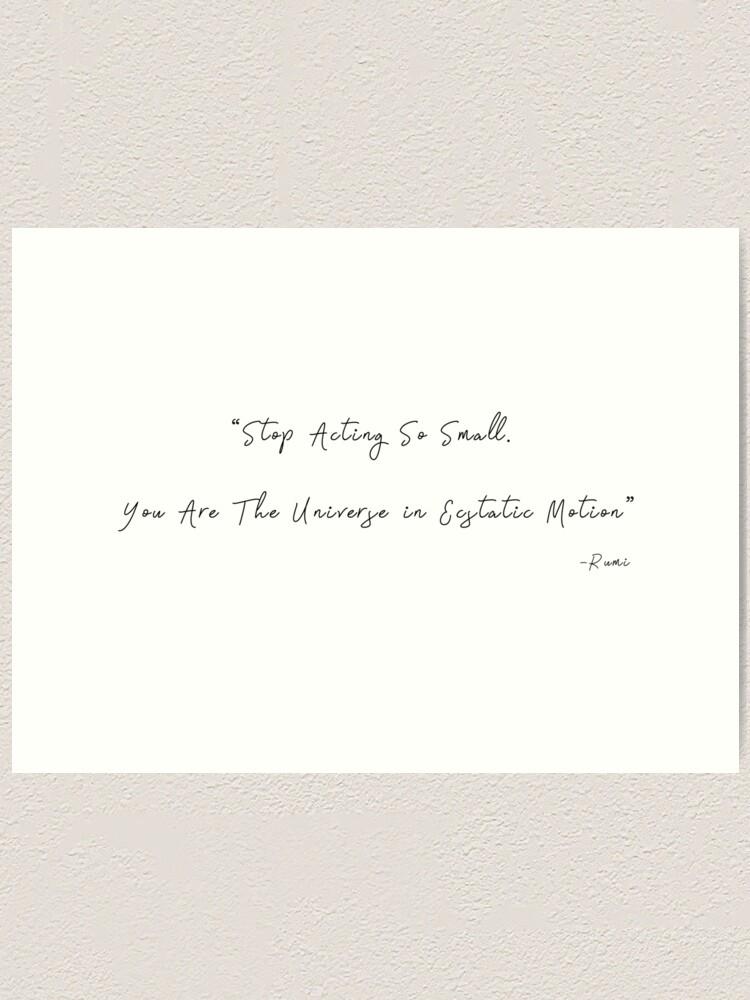 Rumi Quotes Sufi Dance Art Print By Majidart Redbubble