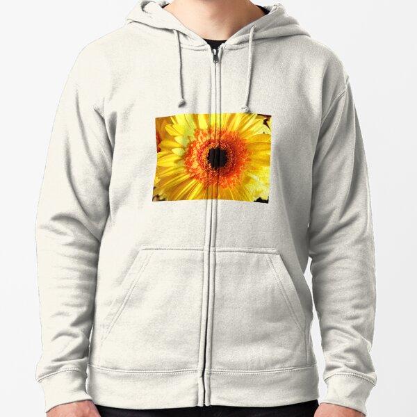 Gerbera Flower Zipped Hoodie