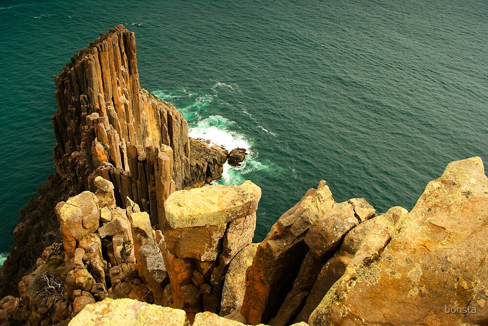 Pillars of Cape Raoul by bonsta