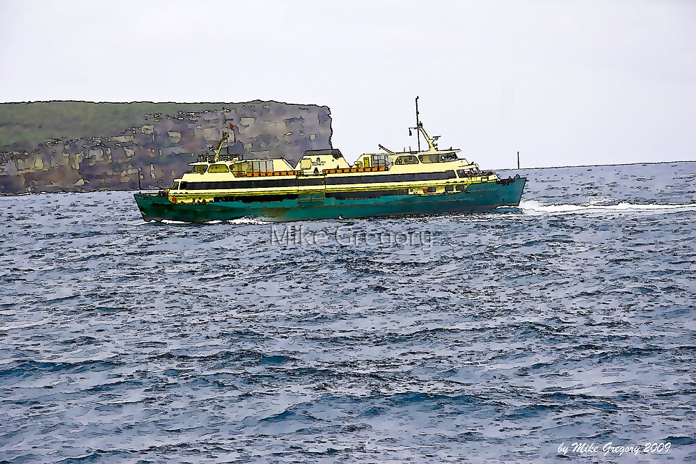 Manly Ferry Crossing the Heads by Mike Gregory