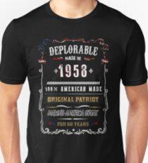 Deplorable Vintage 1958 Original Patriot T-Shirt Unisex T-Shirt