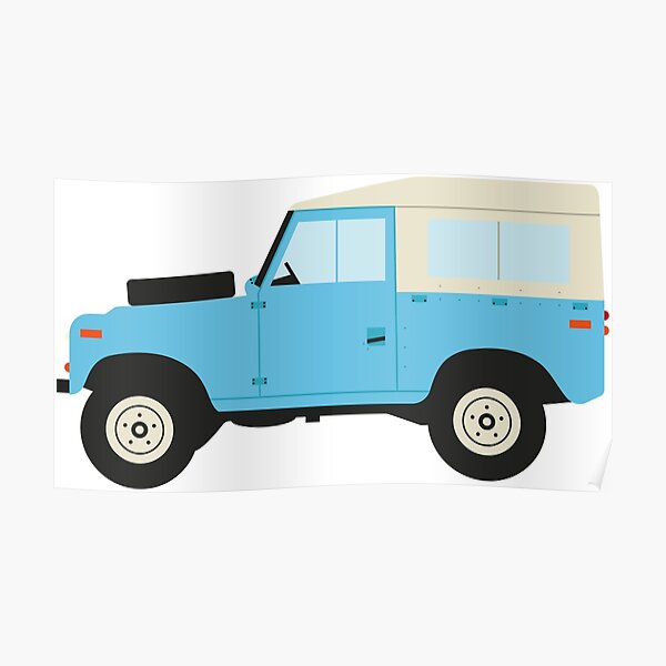 Cartoon Landrover Series 2 Poster