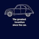"""Citroen 2CV Graphic Art. """"Greatest invention since the car."""" by RJWautographics"""