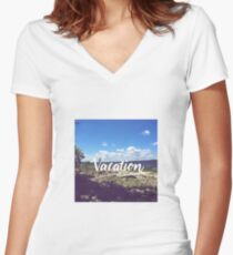 Vacation Women's Fitted V-Neck T-Shirt