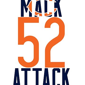 Khalil Mack 52 Bears Football by TyroDesign