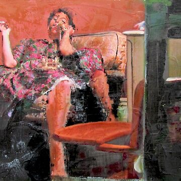 Last Cigaret - Smoker's Confession, Original painting by musicaroundus