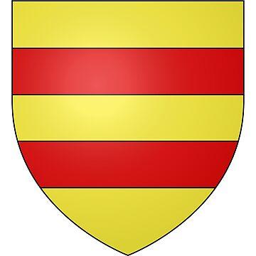 French France Coat of Arms 14785 Blason ville fr Roissy en Brie Seine et Marne by wetdryvac