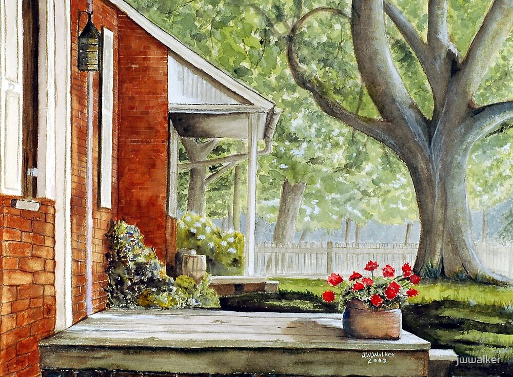 Back Porch Geraniums by jwwalker