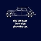 """Citroen Traction Avant Graphic Art. """"The greatest invention since the car"""" by RJWautographics"""