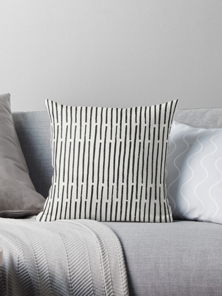 Distressed Hand Drawn Stripe Pattern by meandthemoon