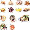 Asian Food Stickers Sticker By Hazelong Redbubble