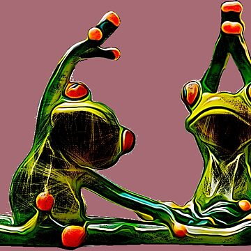 Yoga Frog by painterfrank