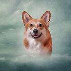 Drawing Dog breed Welsh Corgi portrait  by bonidog