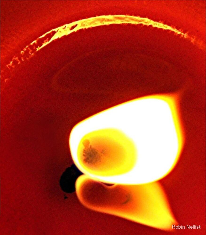 Red fire by Robin Nellist
