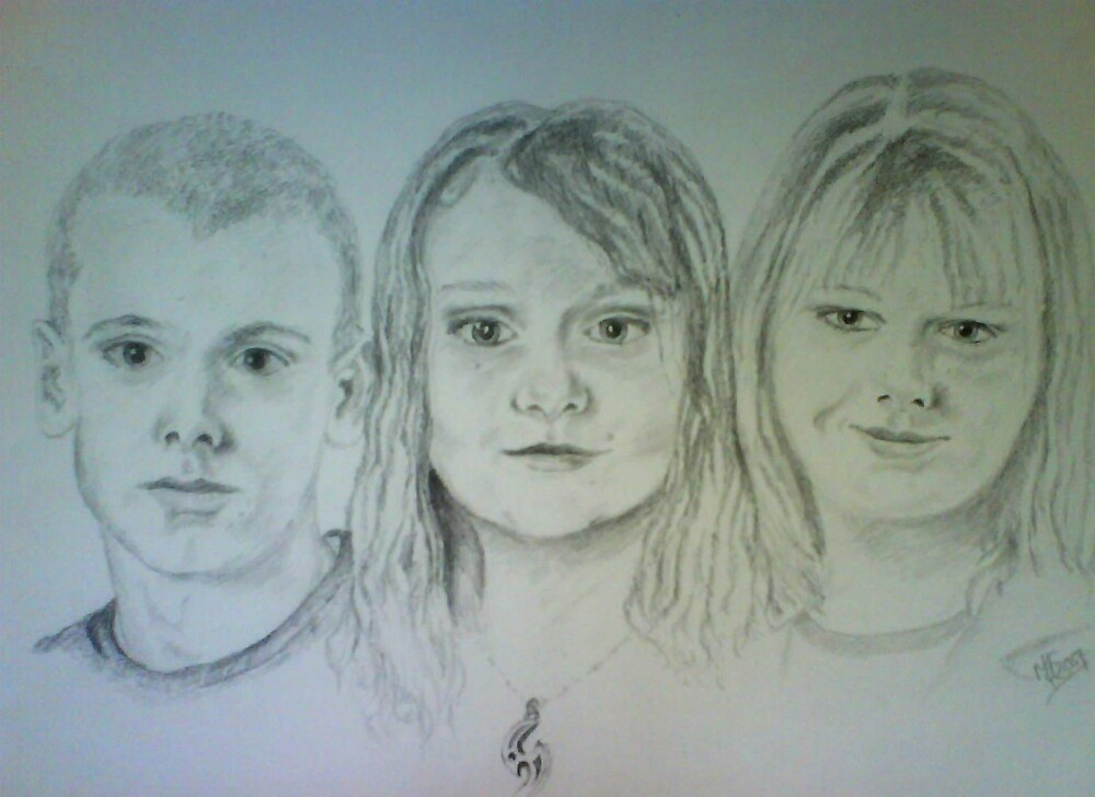 One brother and two sisters.  by melodie