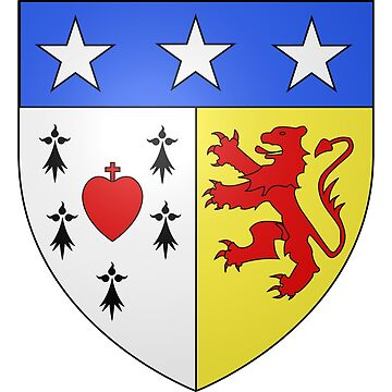 French France Coat of Arms 17225 Blason Lametz by wetdryvac