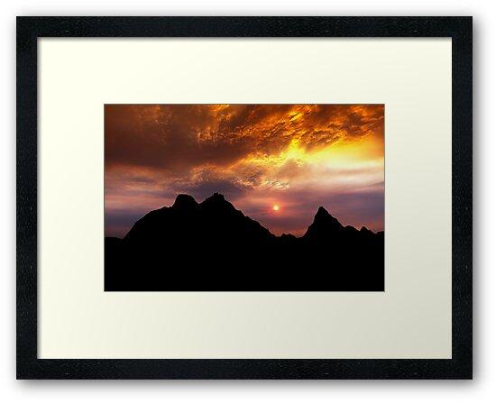 Sunset over Badlands National Park .2 by Alex Preiss