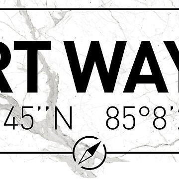 The longitude and latitude of Fort Wayne by efomylod