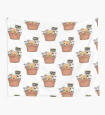 Kittens and Catnip Wall Tapestry
