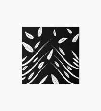 Dark Leaves pattern, leaves, leaf, pattern, black and white, dark leaves, dark floral, abstract, modern, amazing, beautiful, luxury Art Board