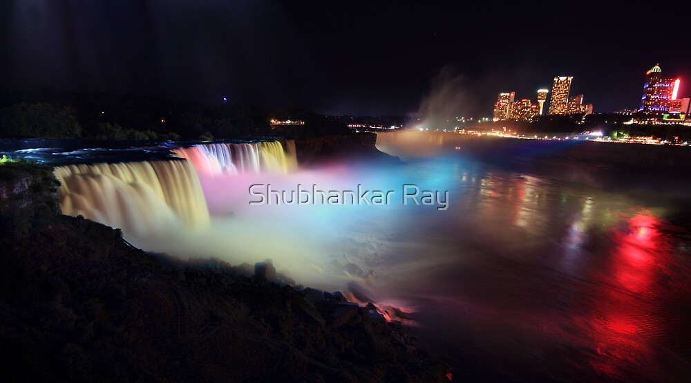 Niagara Falls at Night by Shubhankar Ray