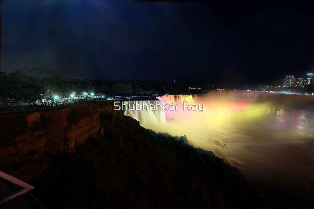 Niagara Falls at Night by Shubhankar Ray
